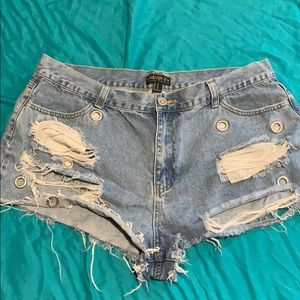Forever 21 distressed booty shorts